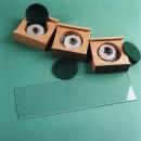 Plakbandringen in beukenhouten doosjes met vilt, foto en glazen schuifdeksel